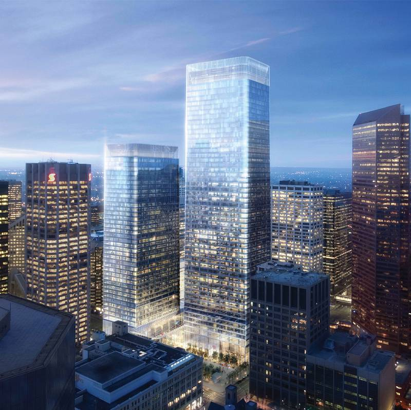 Brookfield Place will be the tallest building in downtown when completed. It will continue the city's flat topped boxy office architectural style that is often criticized.