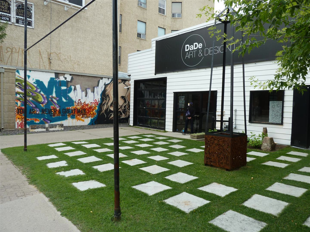How cool is this entrance patio/plaza to DaDE Art & Design?