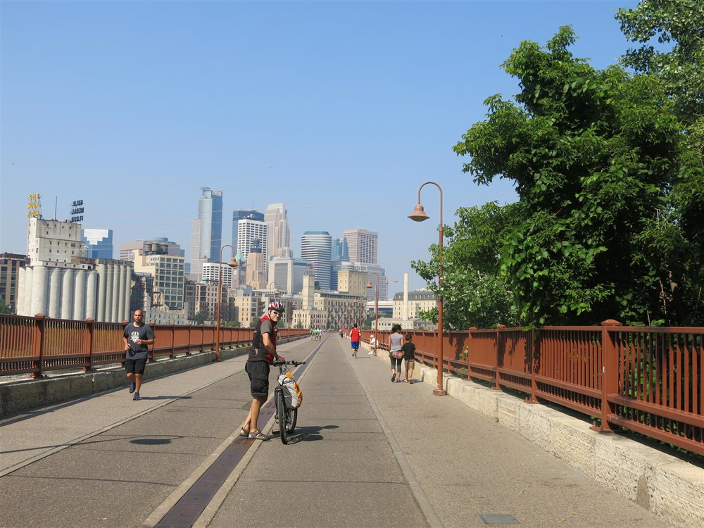 Minneapolis is one of North America's leading cycling cities.  We had to check it out for ourselves.  The Walker Art Gallery is another must see North American gem.