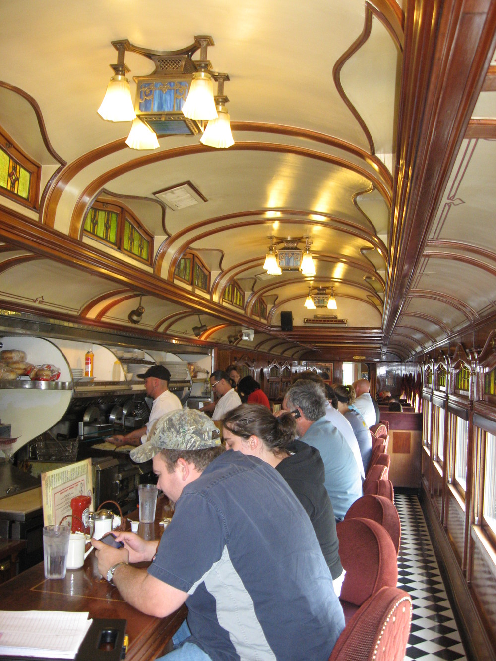 Everyone loves a walk back in time at Frank's Diner located in an early 20th century dining car.
