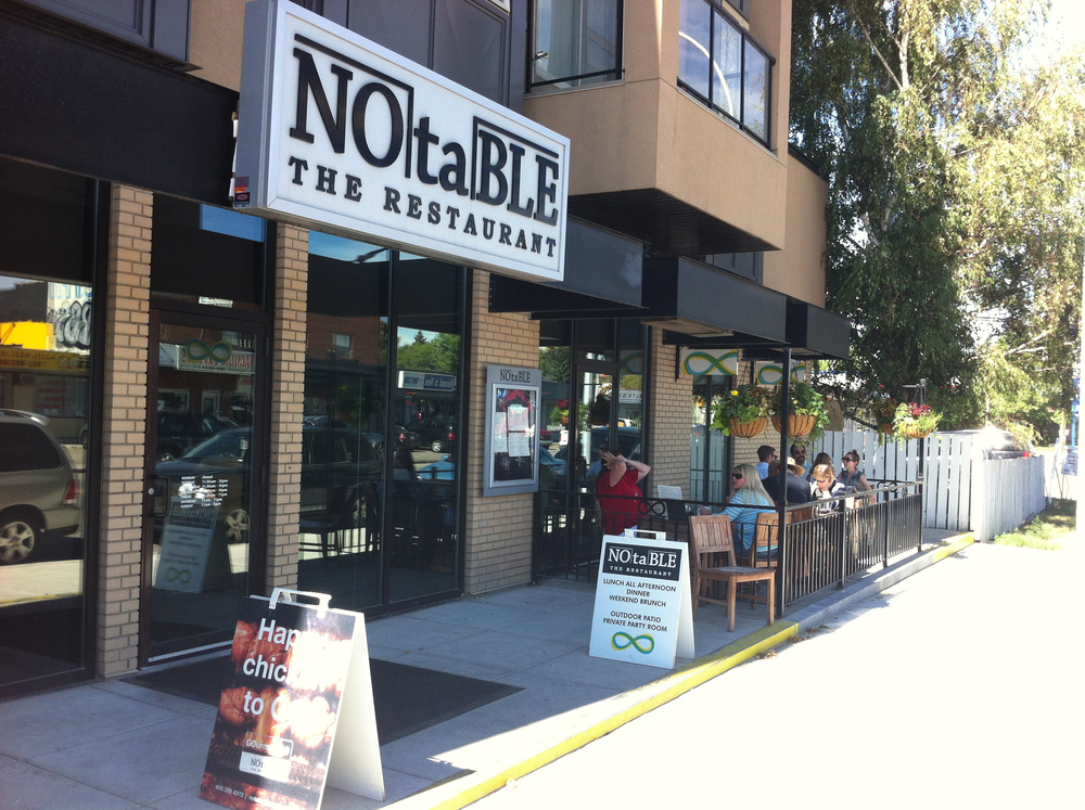 Notable is one of Calgary's premier restaurants and the fact that it is located on Montgomery's Main Street is a testimony that the community is becoming more trendy.