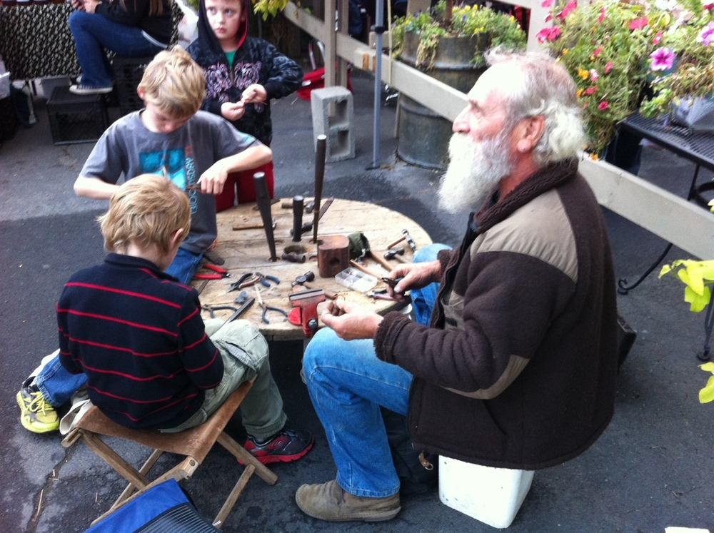 Another unique feature of South Perry market is that the jewellery making taught by a man and the students are mostly boys.  How good it that!