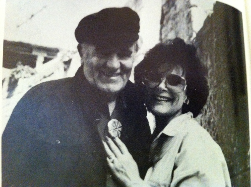 Louis and Kathy near the old Roman theatre in Arles, France, 1985 (Photo Susan Williams).