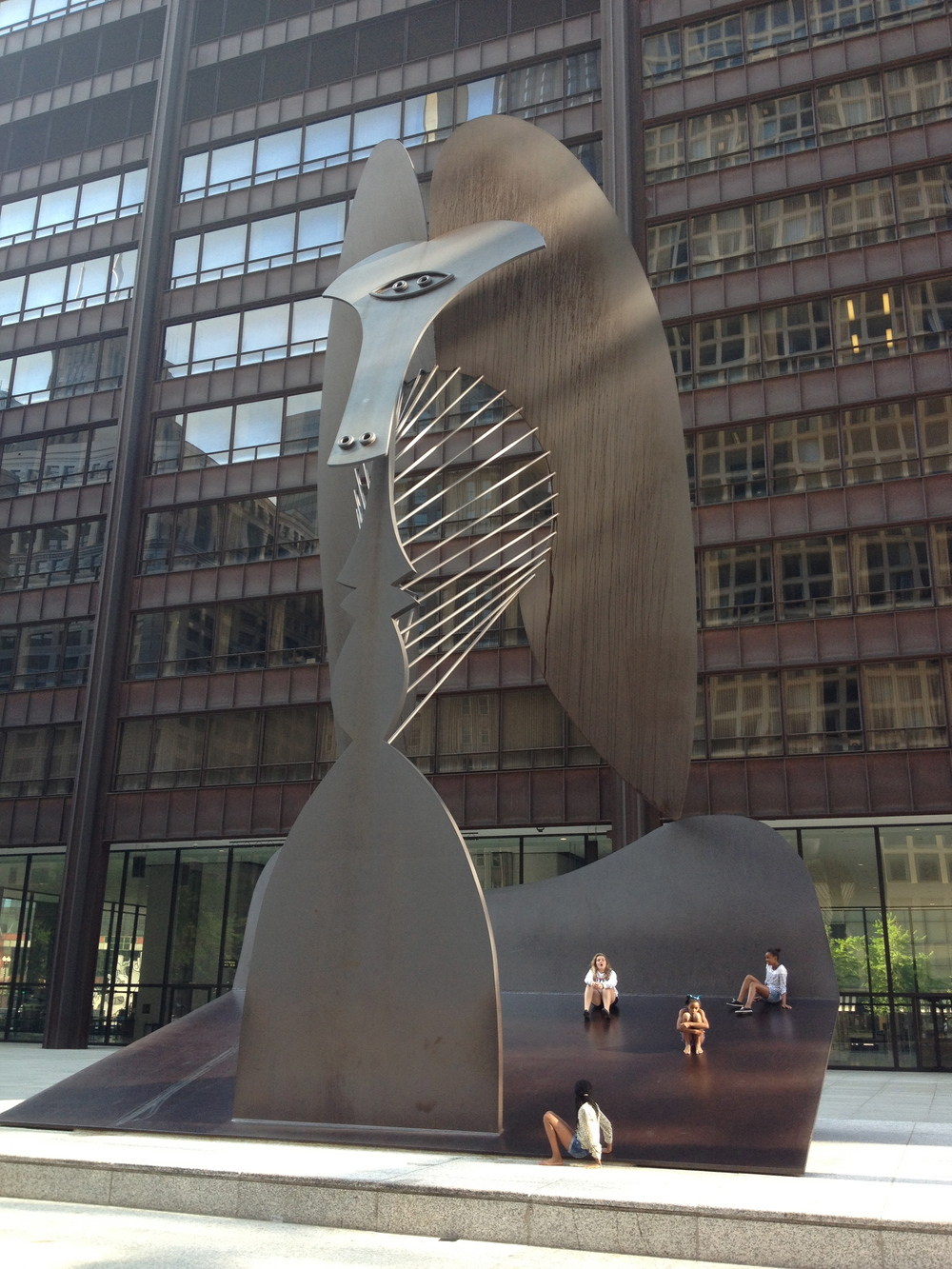 A few blocks away from Millennium Park are several signature public artworks (Picasso) that sit on plaza's in front of office buildings.  While there were highly popular when installed over 30 years ago, today they are just part of the urban landscape.  Is this the fate of all public art?