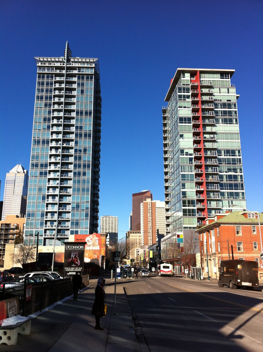 New +/- 20 storey condos are popping up on almost every block in the Beltline.