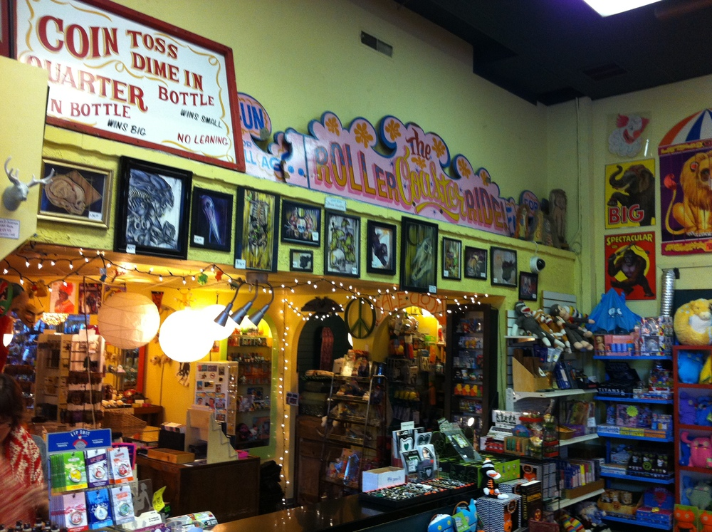 Boo Raddley's is jam packed with fun things.  It has the feeling of a carnival.