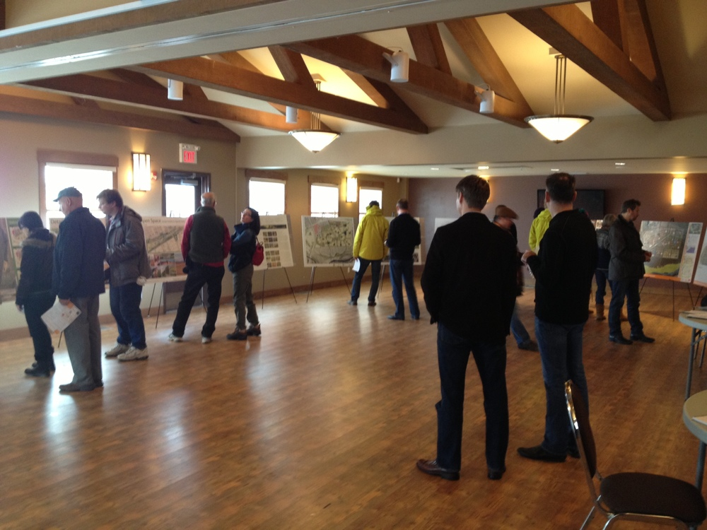 A public open house in Auburn Bay was organized to give the public, especially those in the neighbouring communities a chance to respond to the ideas being presented and to share their ideas on what a new 21st century community should look like.  Public engagement first, then vision and master planning.
