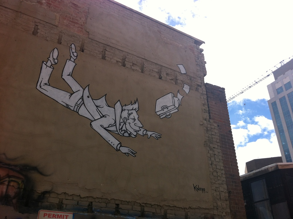 Fun art from Boise's Freak Alley.