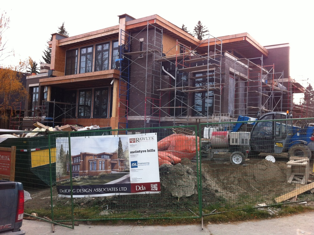 An example of the large multi-level homes that are currently being built.  Could these become modest homes in 50 years?