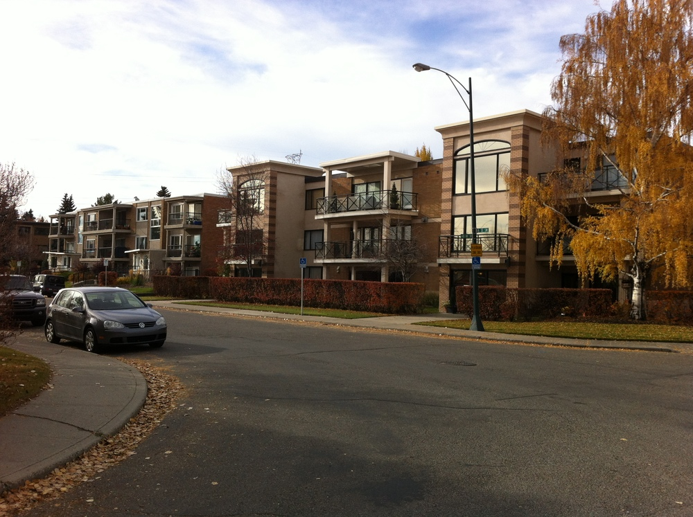 Another example of condos in Britannia that create a more urban sense of place as you get closer to the plaza and Elbow Drive.