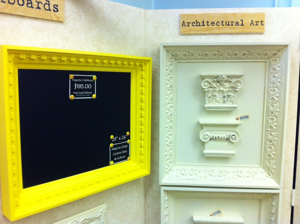 One of the artisans was selling these fun architectural frames.  I thought it was ironic that one was a blackboard in a classroom.