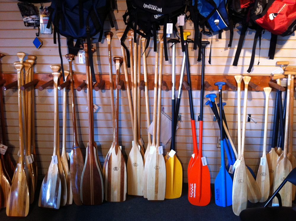 GABEsters love to paddle! Undercurrents in Bowness is just one of many paddle shops.