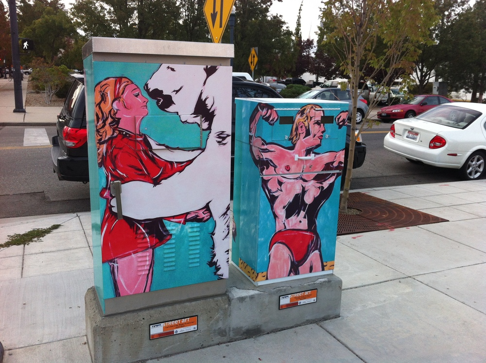 The Linen District has some of the best utility box art I have seen.  It is edgy and fun, not just decorative and safe.