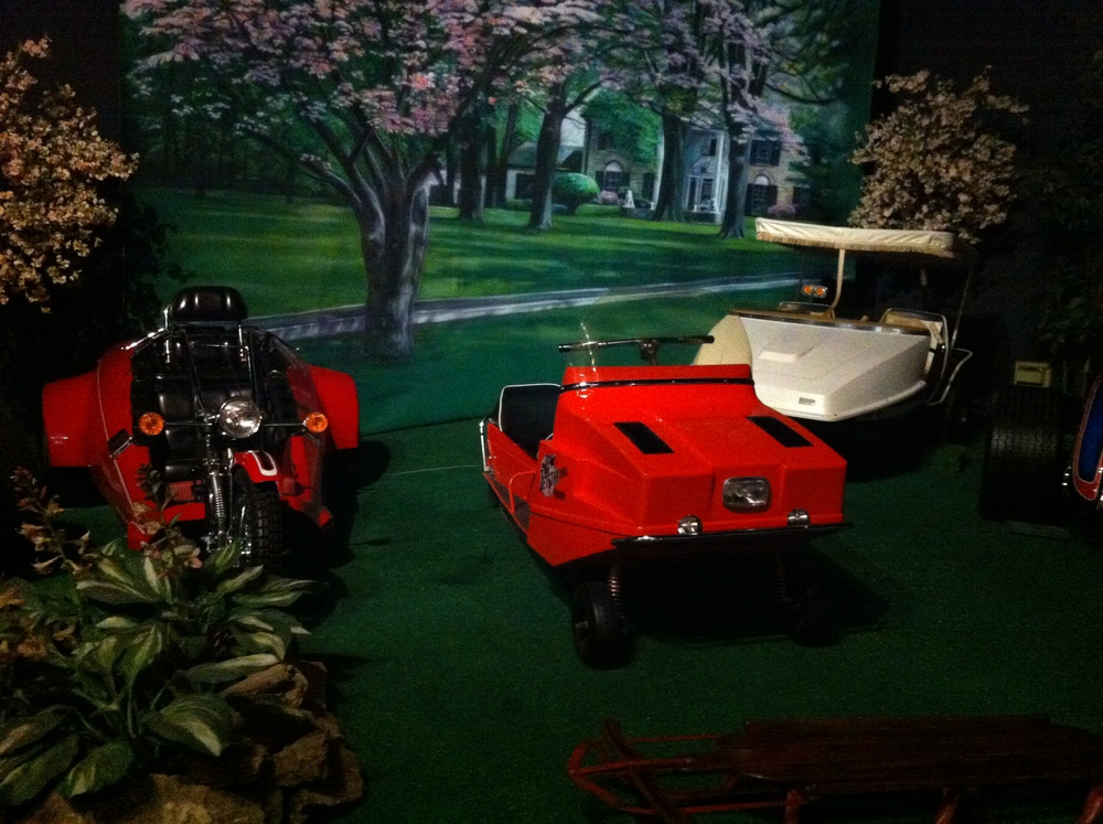 Some of Elvis' toys in the Car Museum.