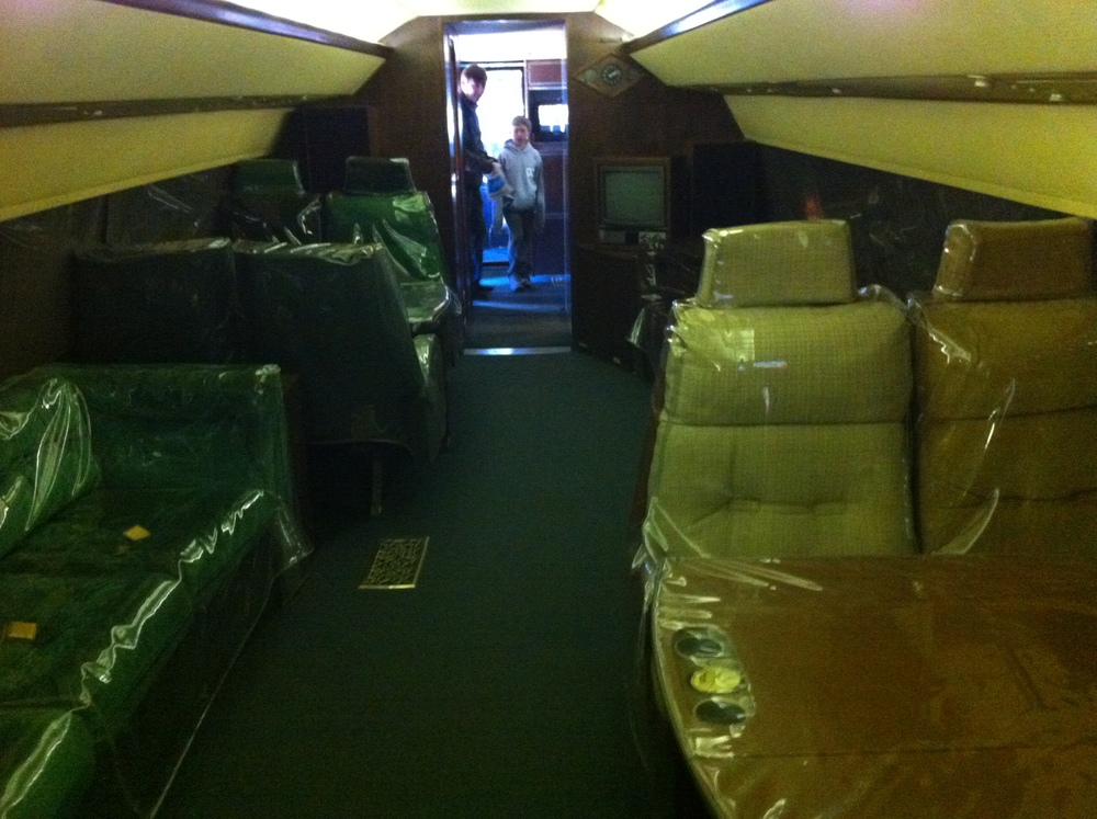 This is the inside of the Elvis plane.  It is dark and drab with plastic over everything...nothing to see here folks, move along.