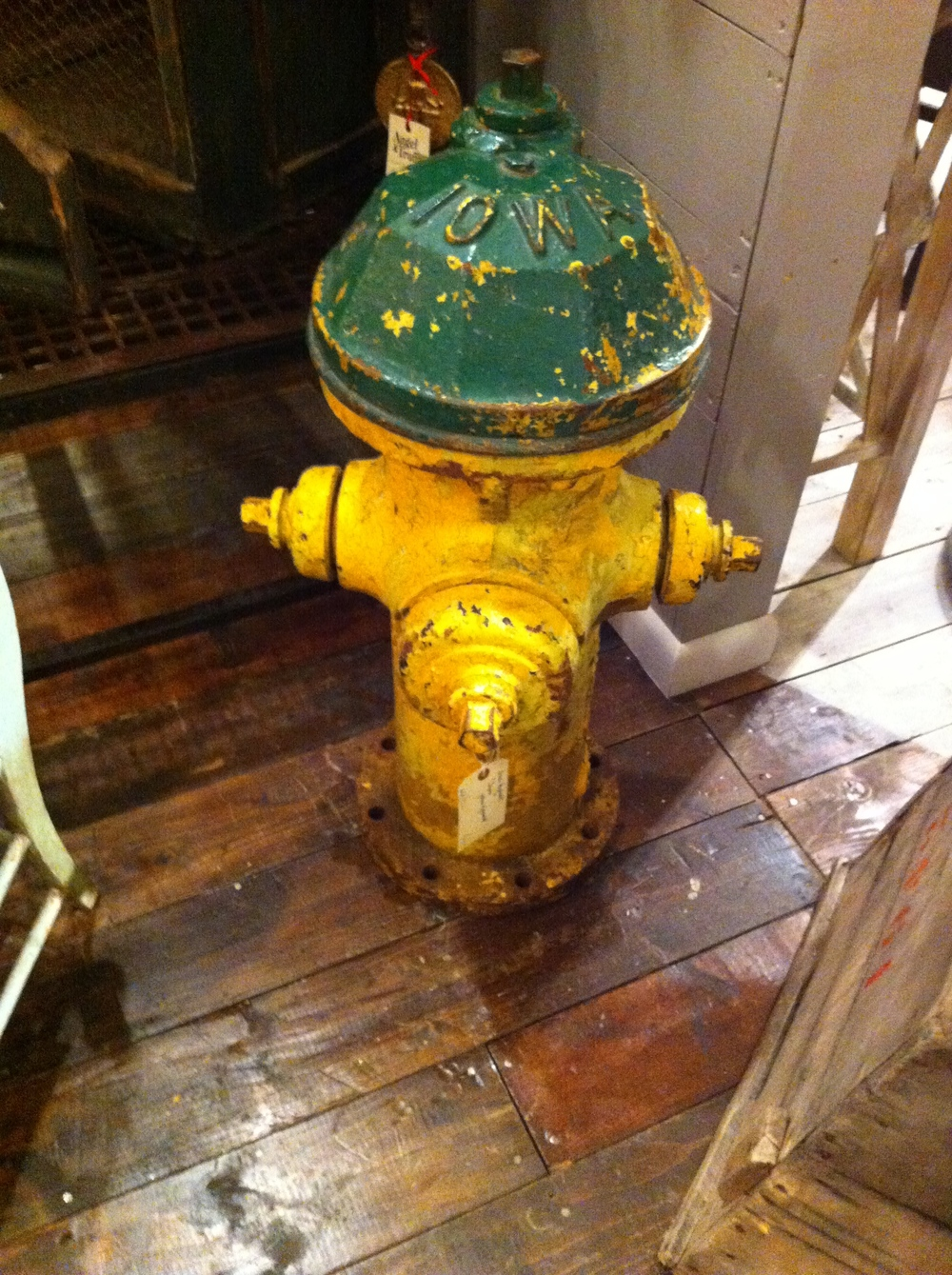 This fire hydrant was tempting but again too big and too heavy. Palladio is a huge furniture antique store with cafe/bistro on Central Ave., with a huge warehouse out back filled with architectural artifacts, fountains and fun objects like this one.