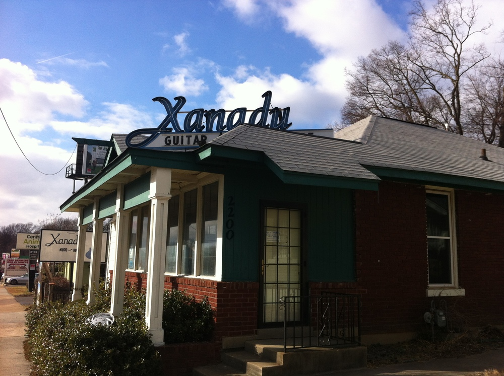 Xanadu looked promising as it is used bookstore, record store and music store.