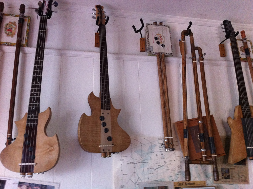 I was tempted by the cigar-box guitars, but since I don't play the guitar is seemed silly.