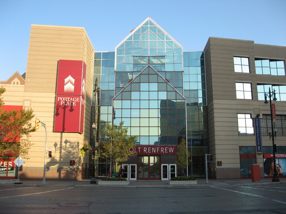 Winnipeg's Portage Place is the hub for downtown shopping as is The Core for downtown Calgary .
