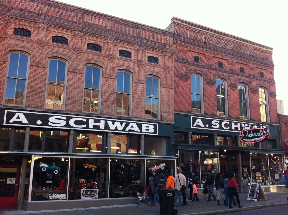 We did check out A. Schwab which is a Beale Street institution, but it seemed too touristy for us.  However, it is a great place to wander, with lots of artifacts from the golden years of Memphis and Beale St. especially if your time is limited.