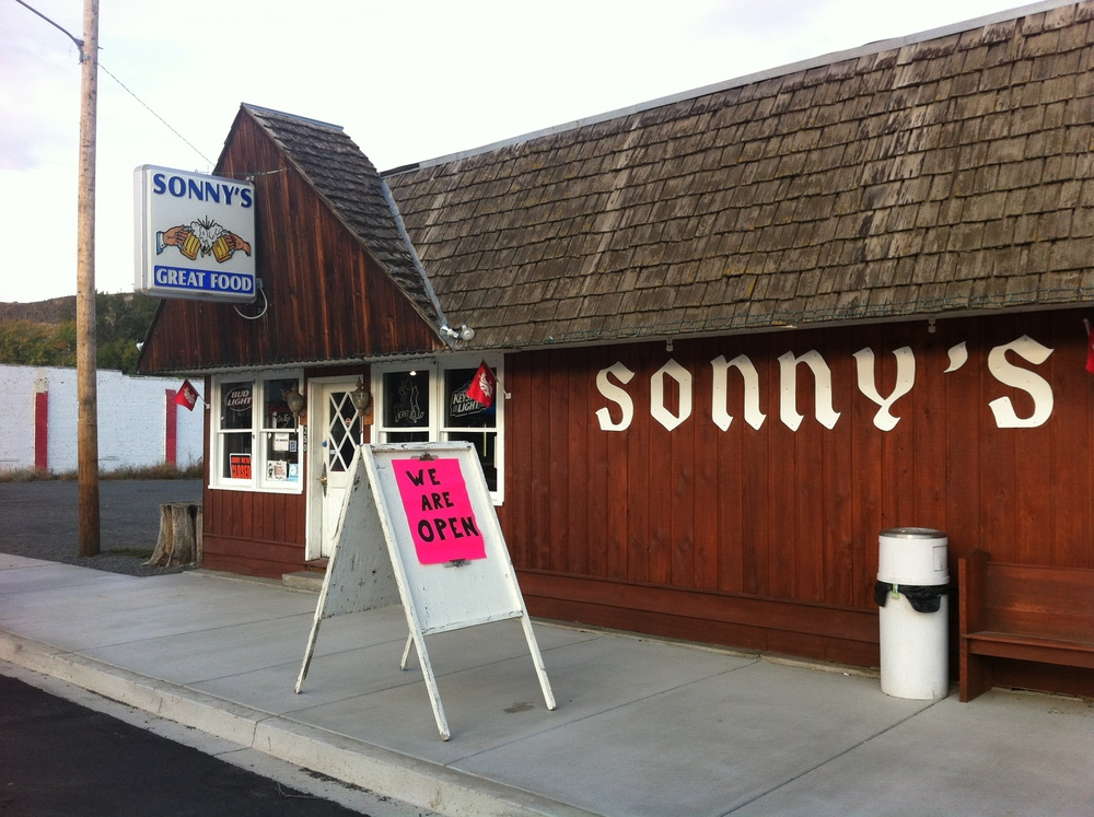 We tried to get into Sonny's but despite the sign it wasn't open.