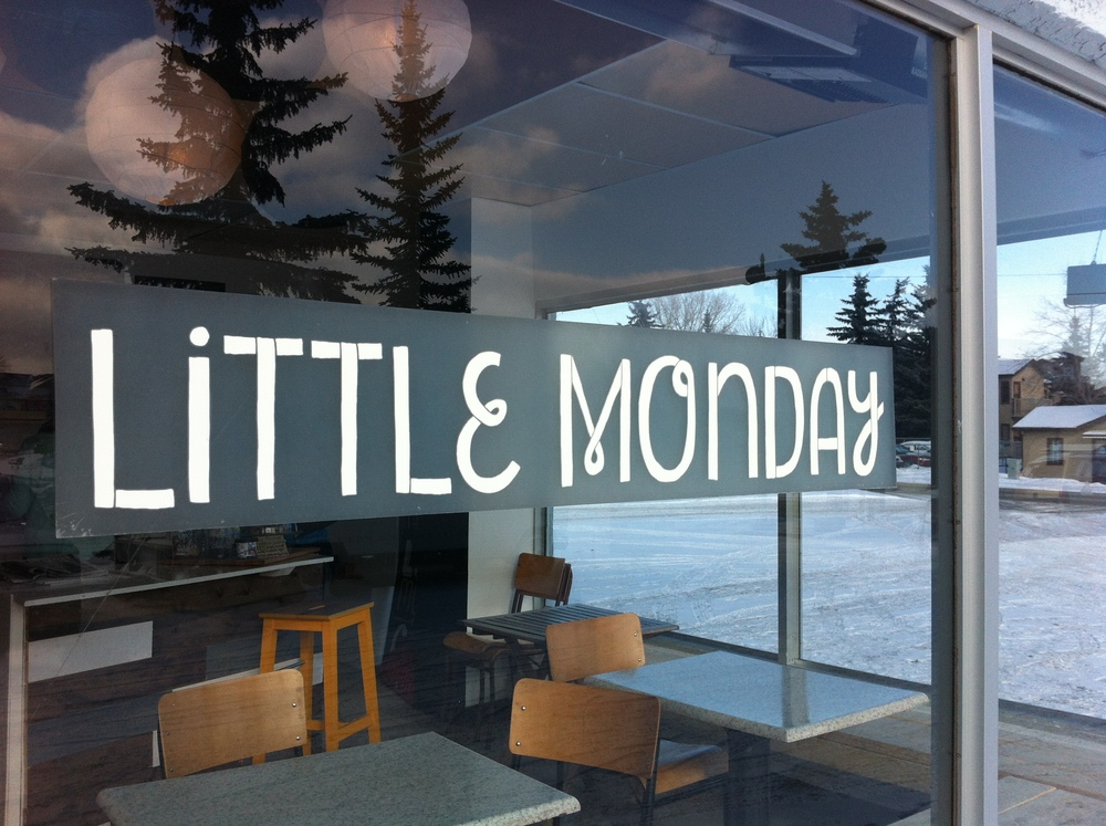 Little Monday Cafe is very quaint. It also offers a nice view of the spruce trees across the parking lot.