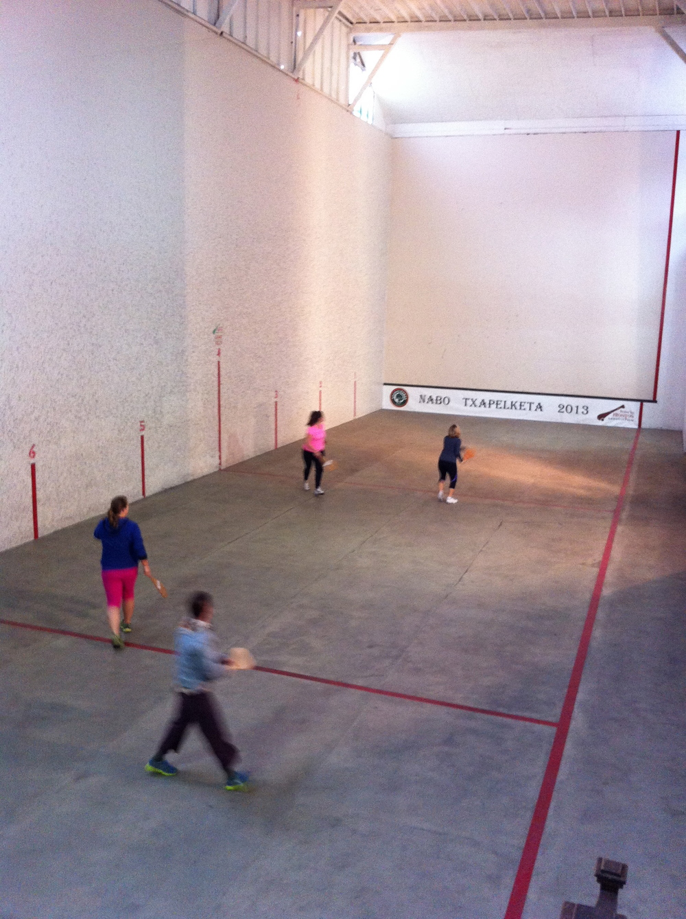 The Fronton Court.  Nobody asked me if I wanted to play. Darn!