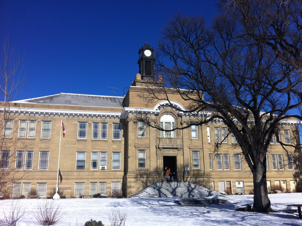 Across the street from Sketch in the historic Balmoral sandstone school built in 1913 on 5.4 acres.  They don't build schools like this one anymore.  There is an immediate sense of authority as soon as look at the school.  The power of architecture is evident here.