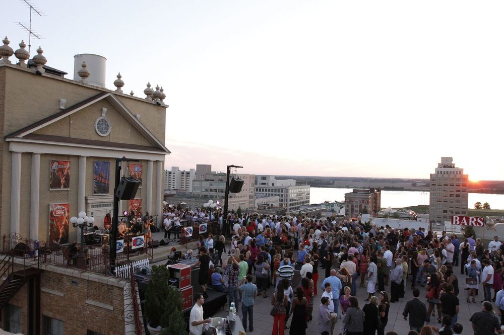 The Peabody's rooftop patio is a great place for summer concerts and events. (Photo Credit: The Peabody Memphis)