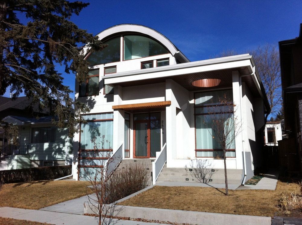 One of literally thousands of new infills that are redefining urban living in West Hillhurst and all communities north of the Bow River within a 45 minute walk, 20 minute cycle or 10 minute drive of downtown Calgary. .