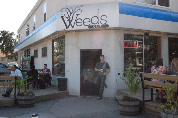 Weed's Cafe is a charming bohemian hangout.