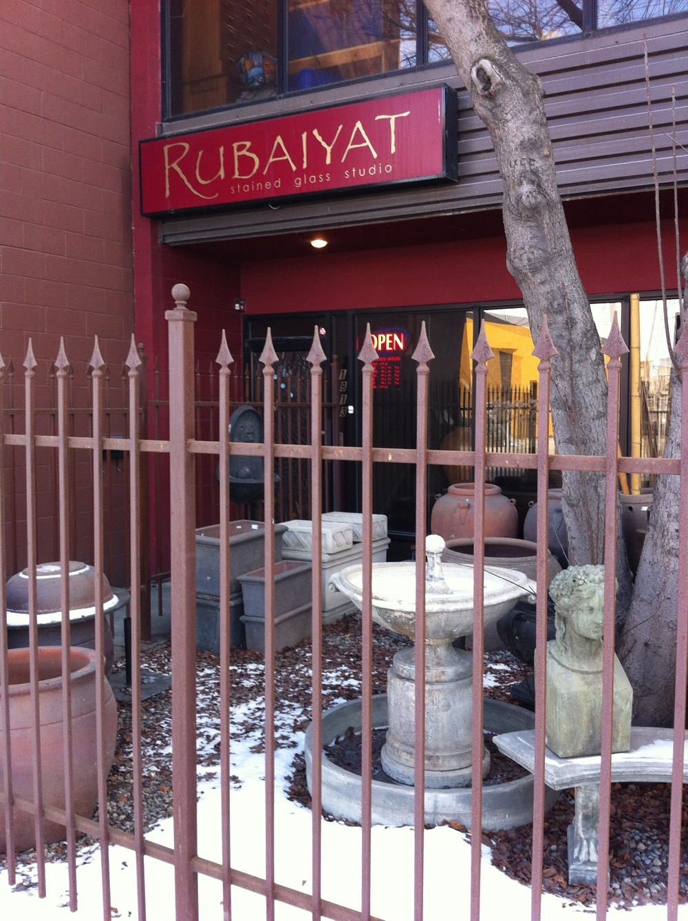 Entrance to Rubaiyat Stained Glass Studio.