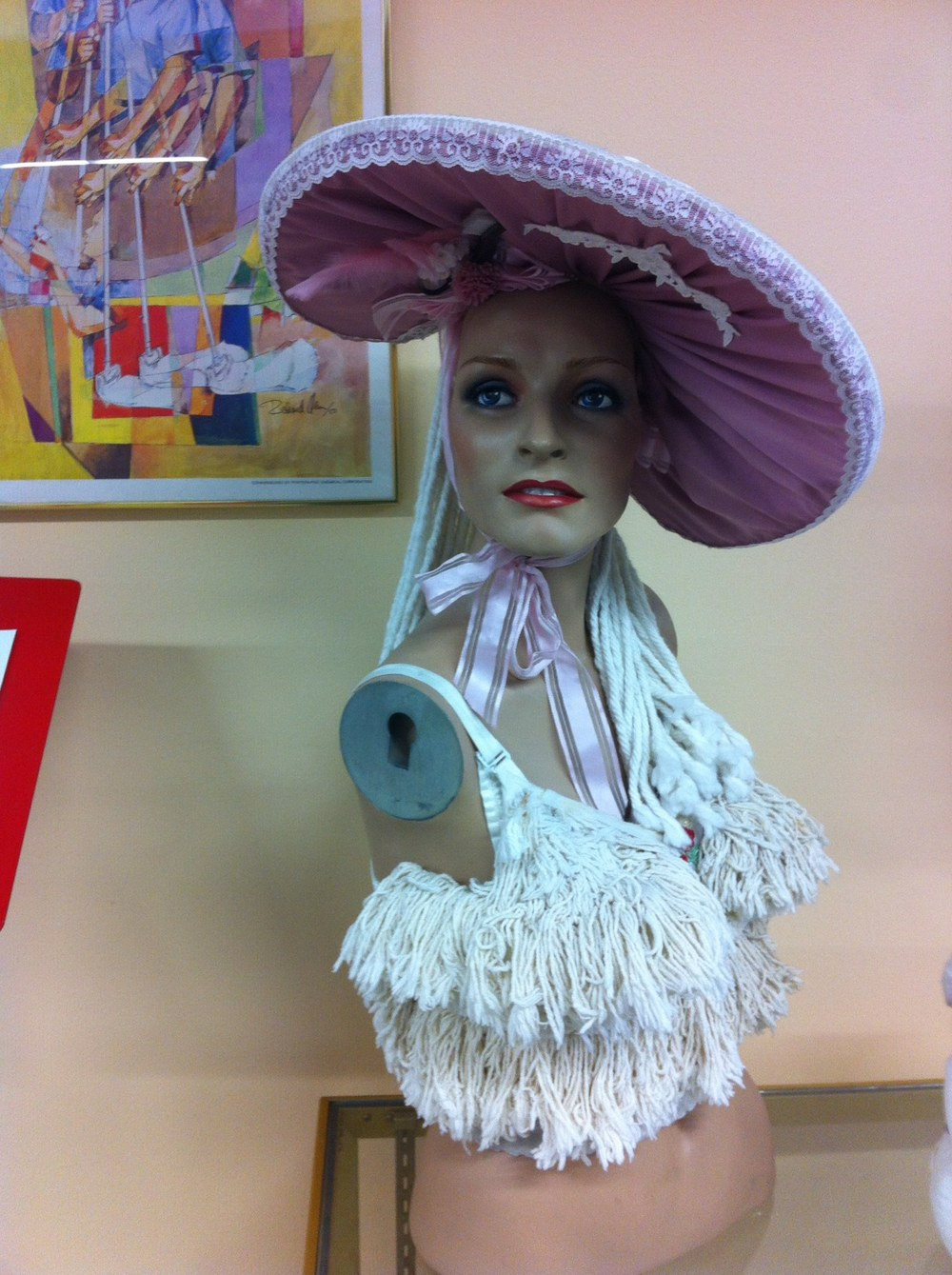 As part of the extensive collection of mops, there is a mop bra.