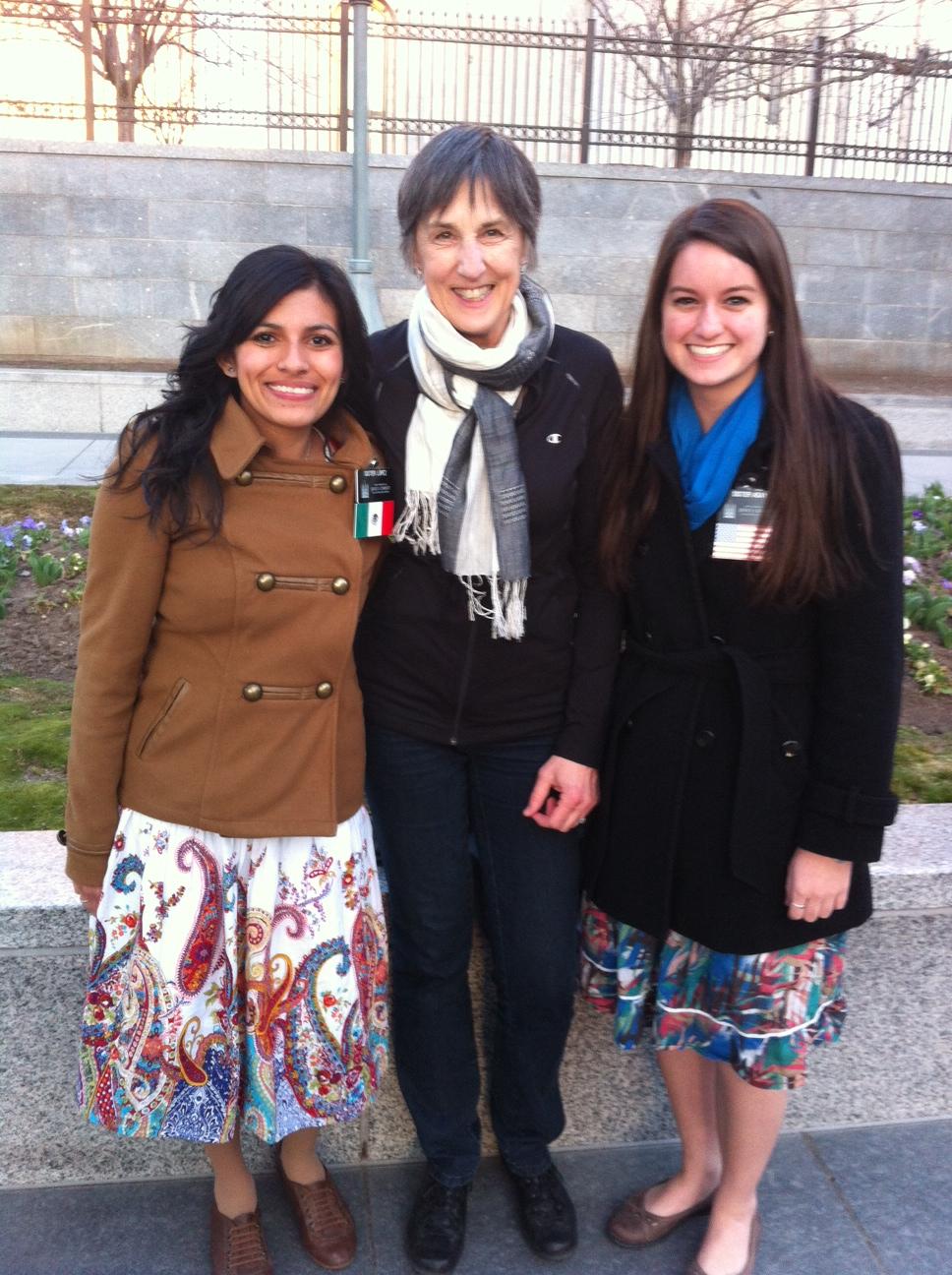 Sister Lopez, Brenda and Sister Asay