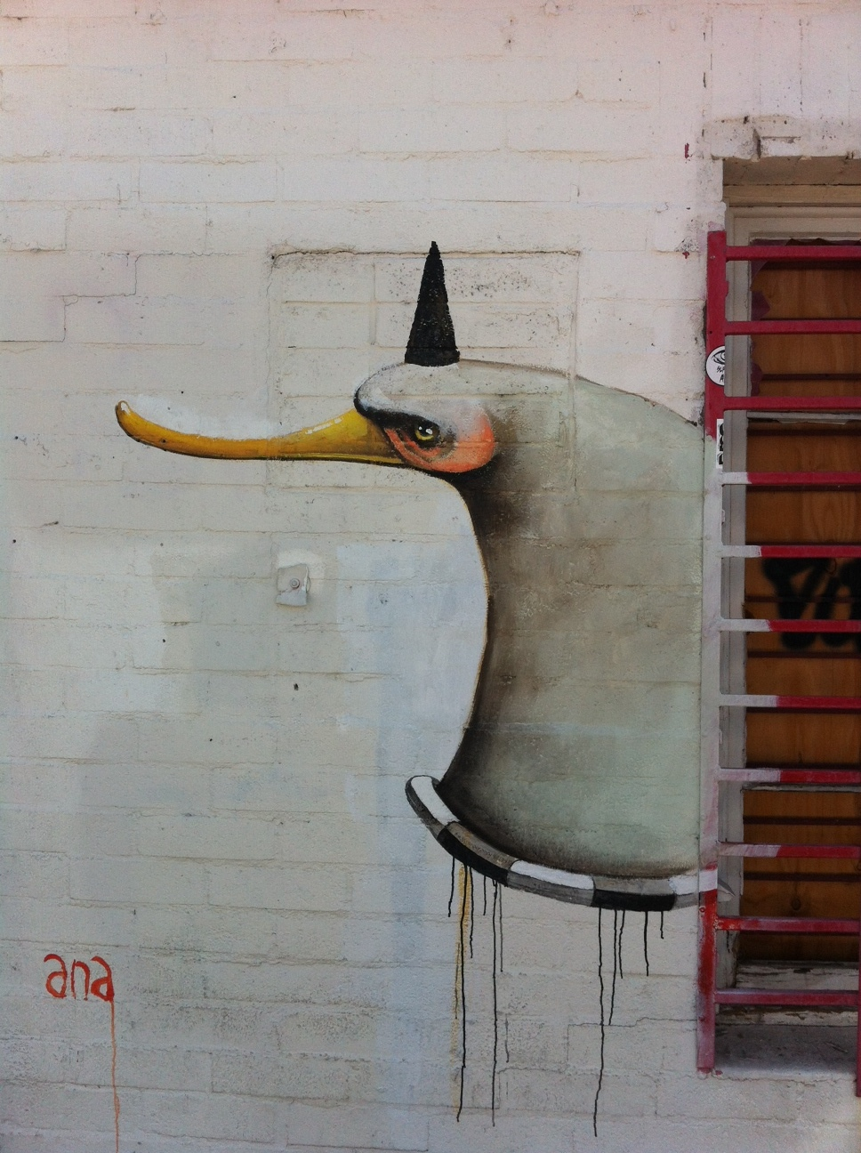 This surrealist artwork was found on a warehouse wall in Vegas' Arts District.