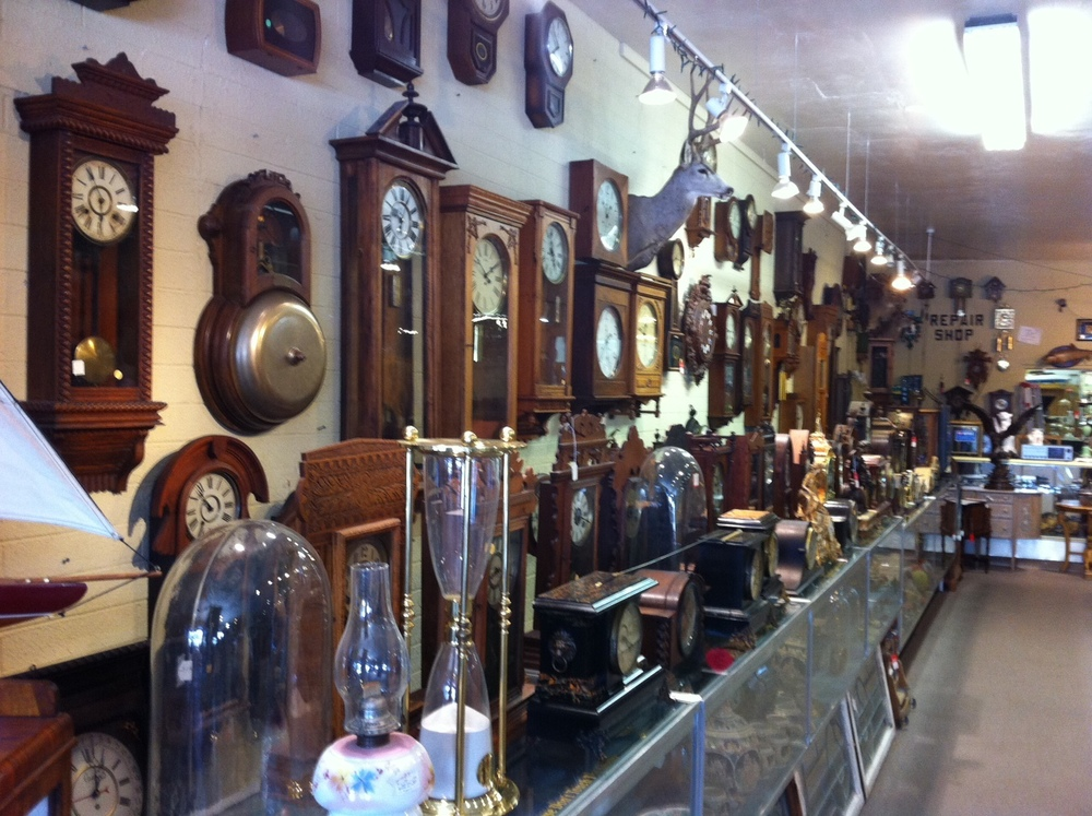 JJC Clocks & Antiques on south Main Street is like a mini-museum.