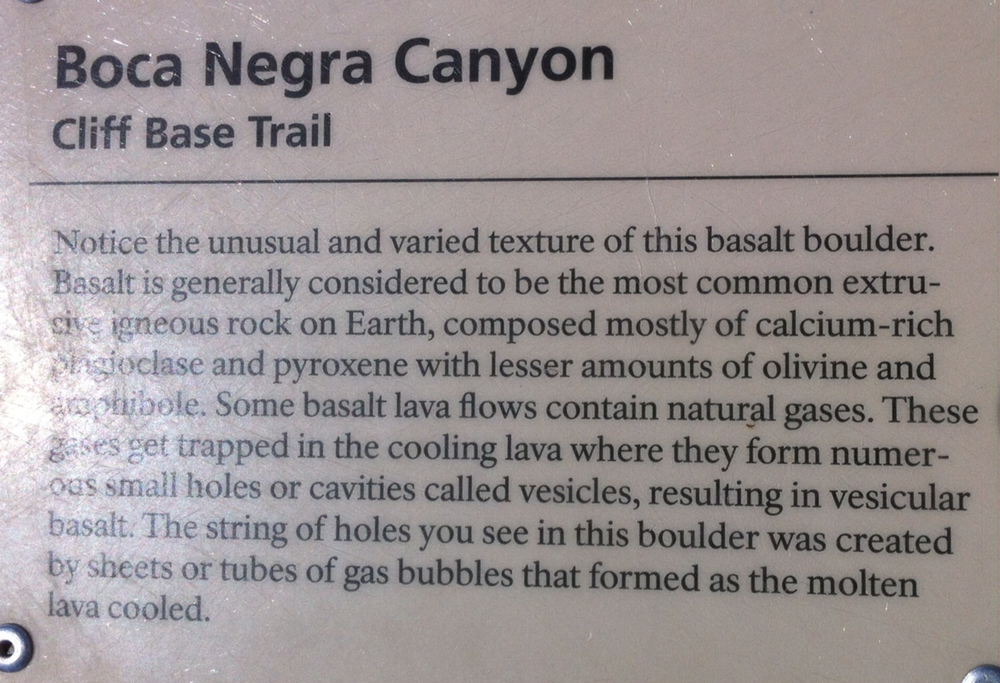 Boca Negra Canyon Cliff BaseTrail