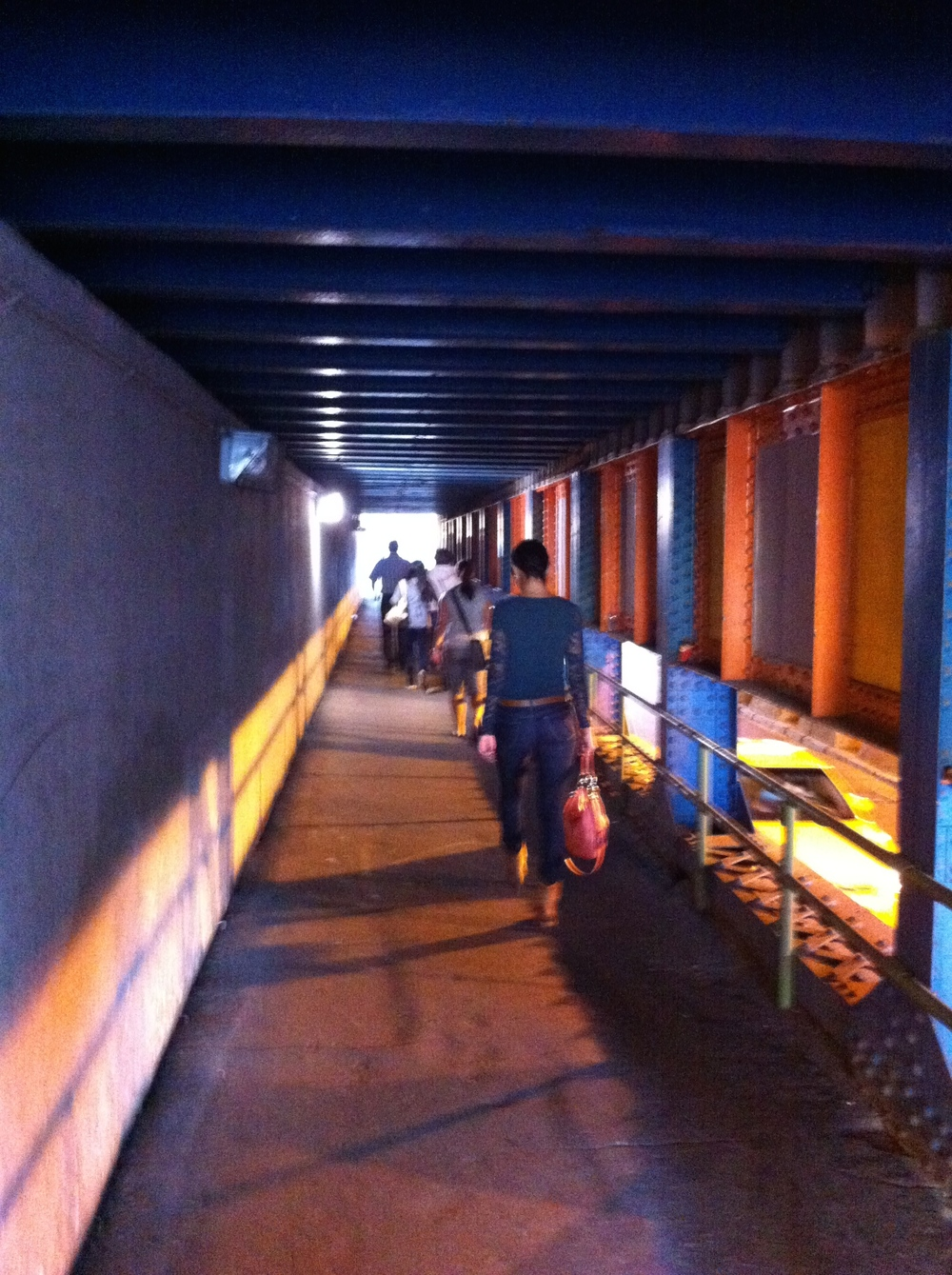 Unfortunately dark and dingy underpasses that often link one downtown district to another are not attractive to anyone.