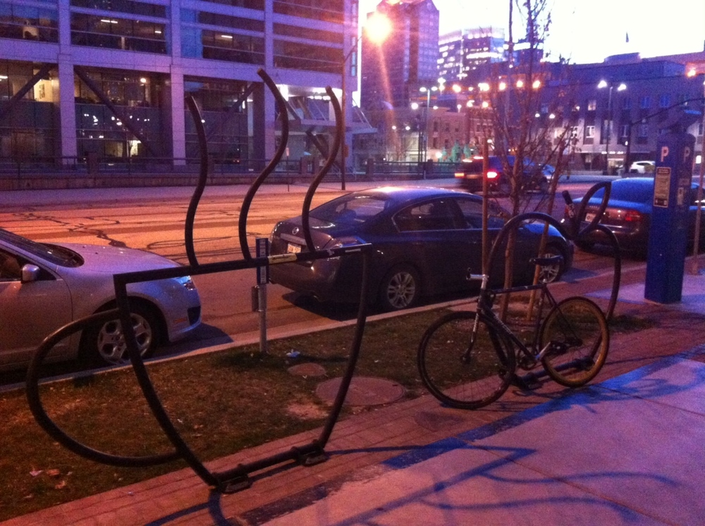 Found these fun bike racks in front of a grocery store in downtown Salt Lake City.