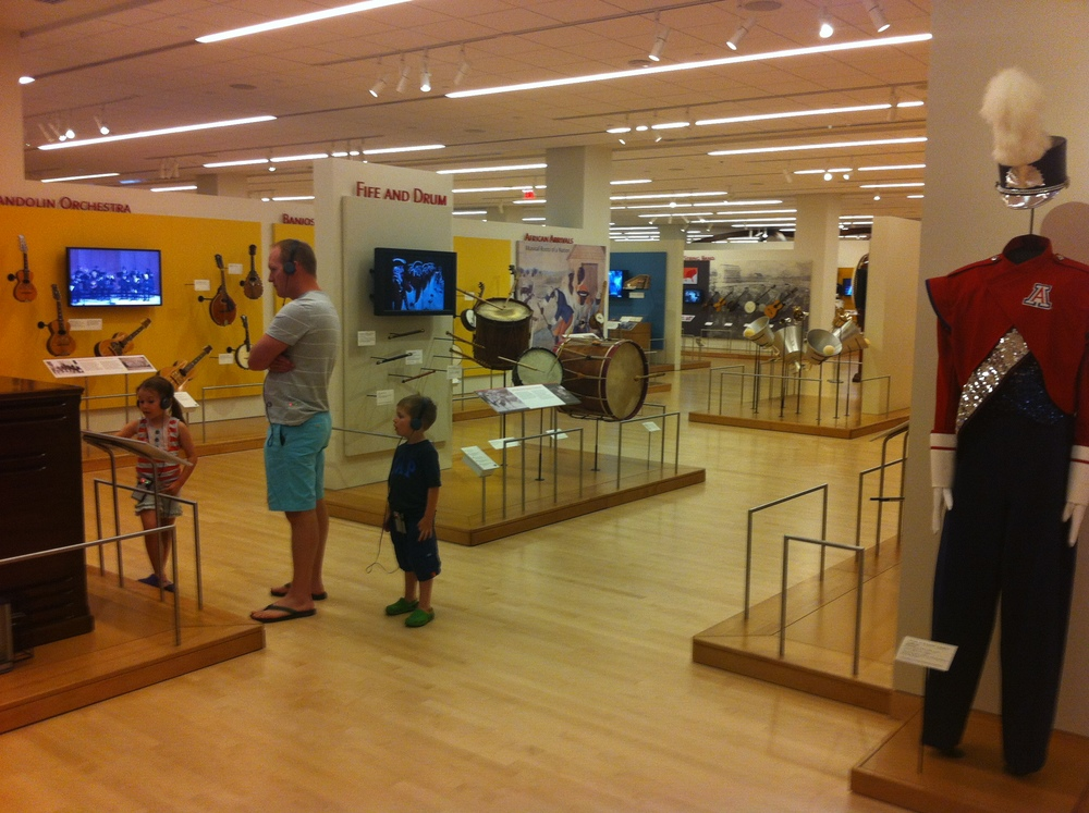 One of the five exhibition gallery spaces each the size of a Target store.