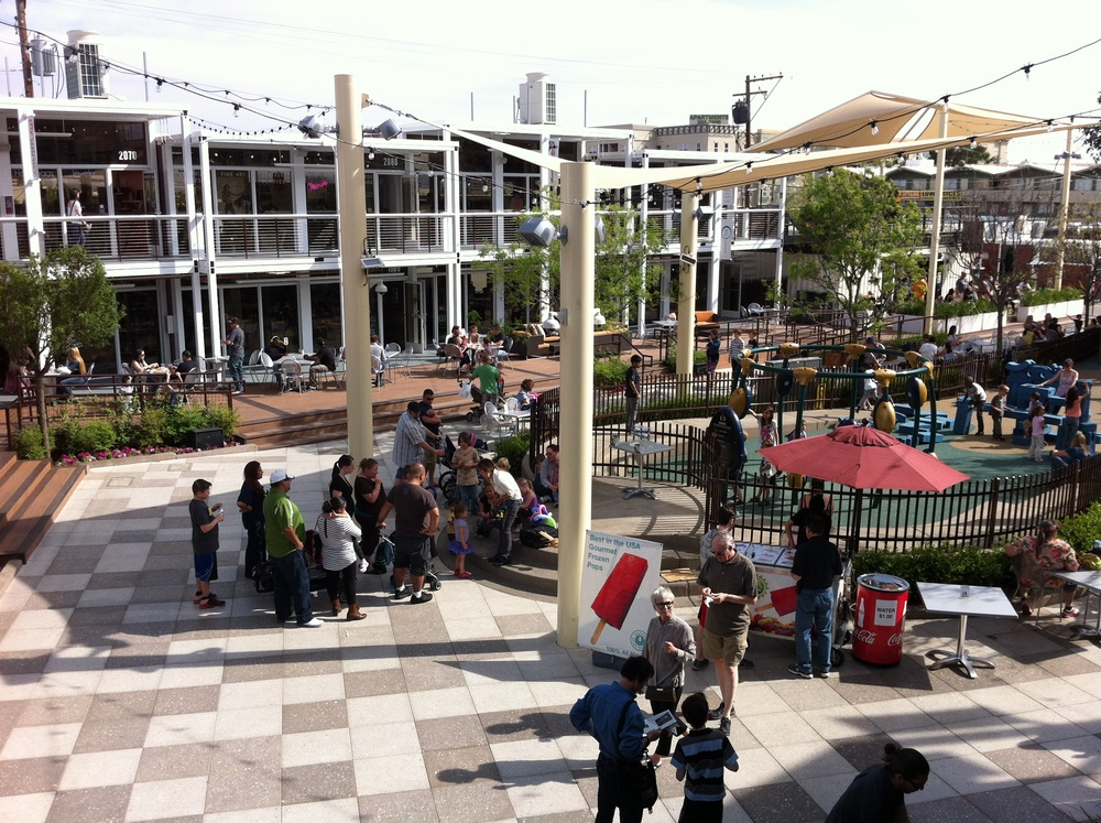 Container Park by day is full of families and hipsters.  It is a happy place!