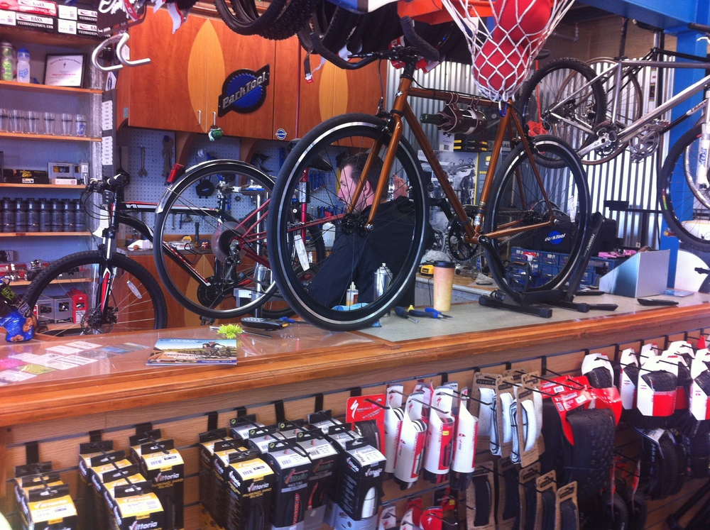 It wouldn't be a hipster hang-out without a bike shop.