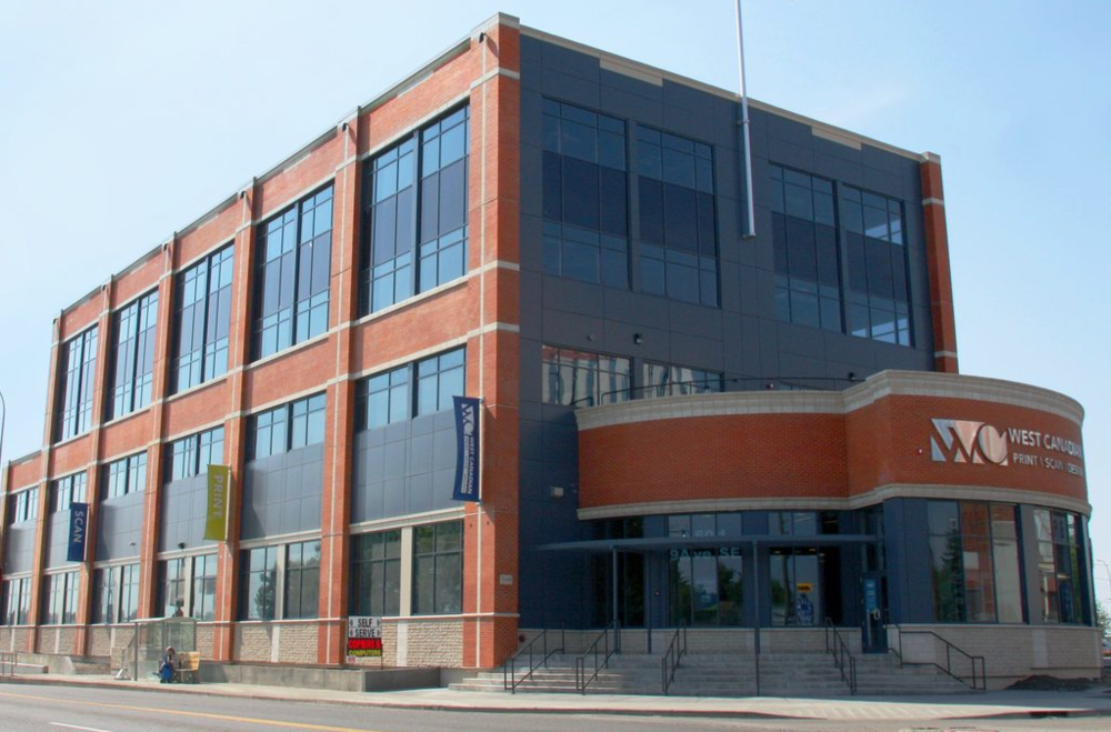 West Canadian Digital Building is a  more traditional modern interpretation of early 20th century warehouse architecture.
