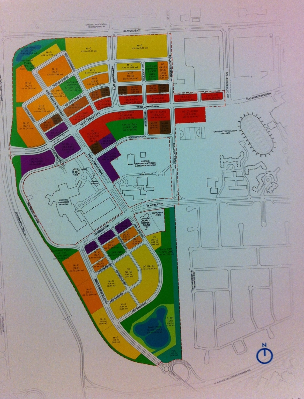 The proposed West Campus university town is well conceived and is already getting lots of interest from developers. (Image courtesy of West Campus Development Trust).