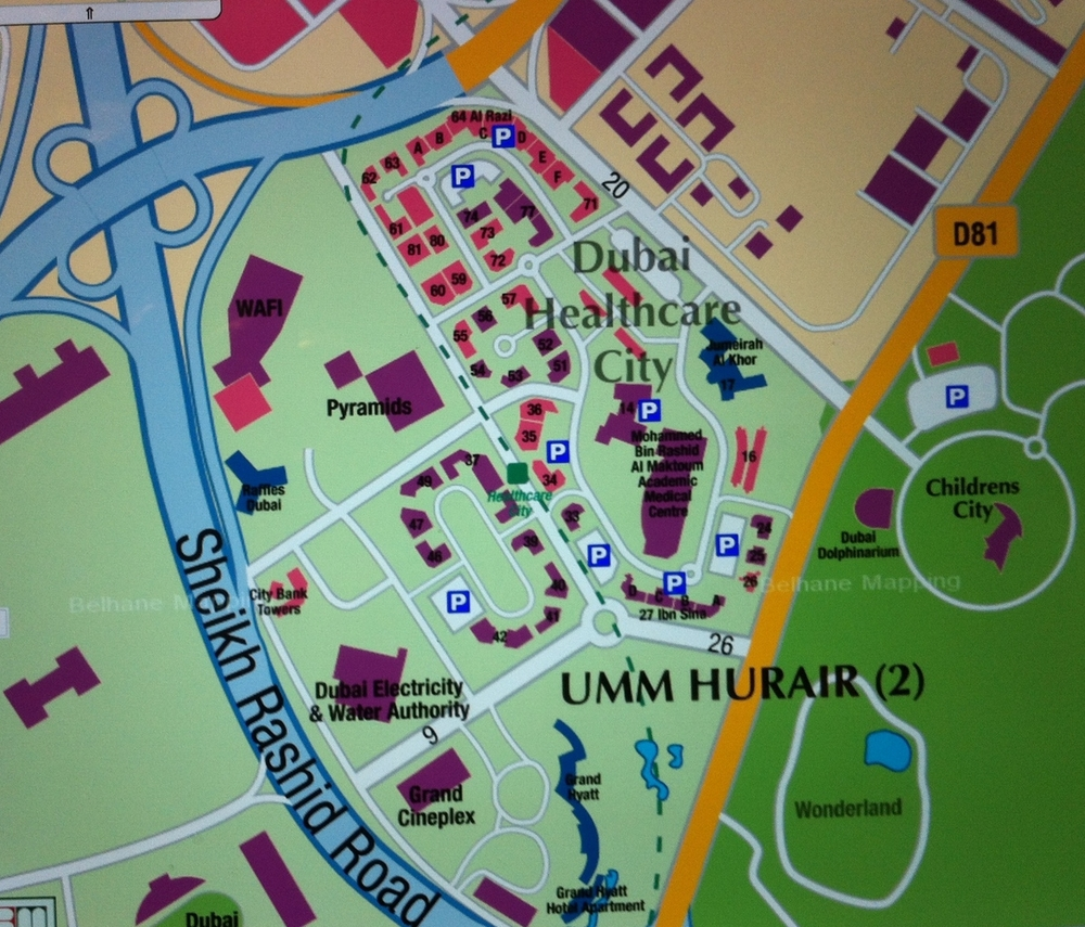 Dubai Healthcare City looks very similar to the proposed the West Campus Development Trust's plan for the University of Calgary's West Campus.