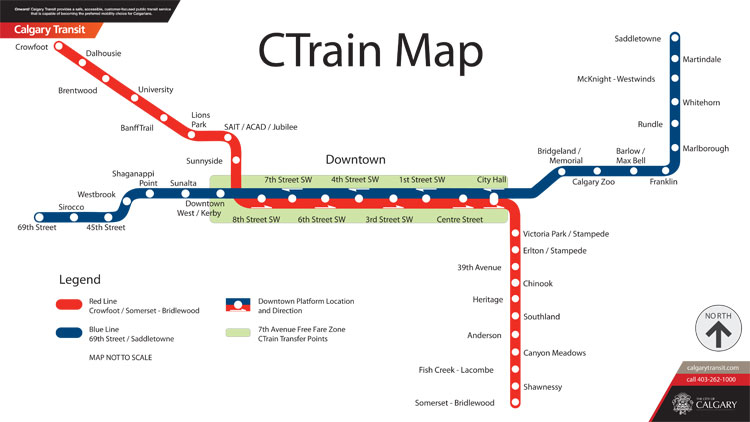 Calgary's LRT Map