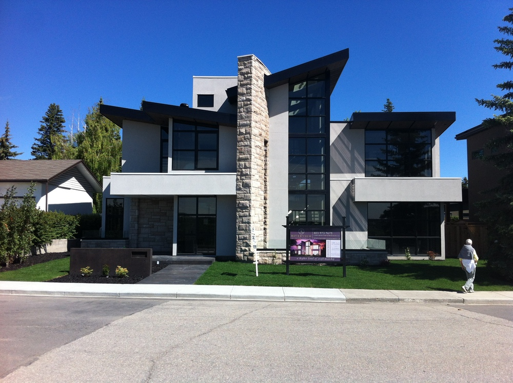 One of the many new mansions on the ridge in St. Andrews Heights.