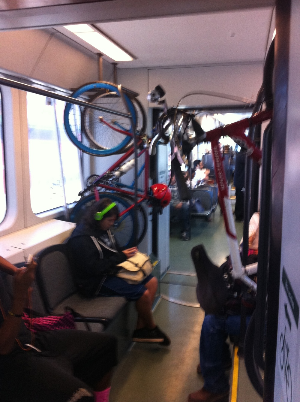 Riding the LRT to downtown with the students and cyclists was a much more urban experience than we had anticipated.