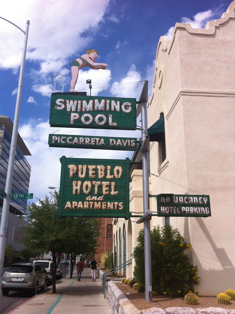 Retro neon signage adds as much or more visual interest to a streetscape as most public art.