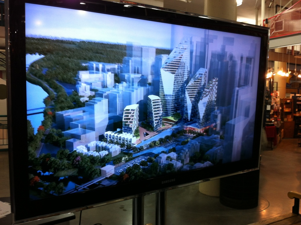 Proposed Eau Claire Market site redevelopment with five new towers.